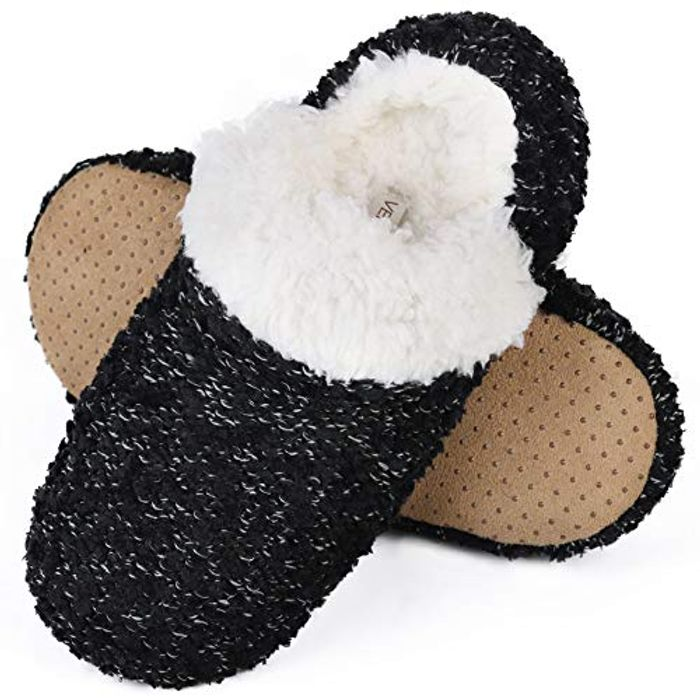 VeraCosy Ladies Fluffy Hand Made Knitted Slipper Socks - Only £6!
