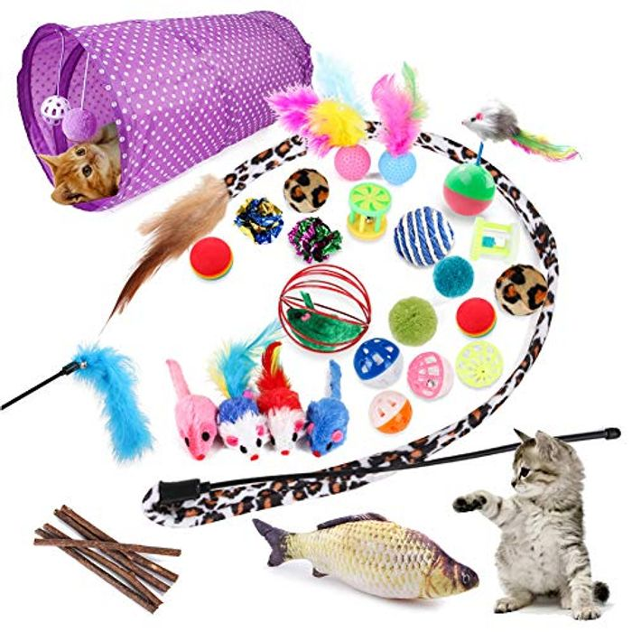 DEAL STACK - Pack of 28 Cat Toys + 5% Coupon