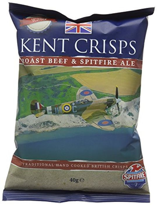 Kent Crisps Roast Beef/Spitfire Ale 40 G (Pack of 20)