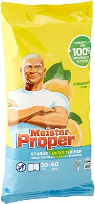 Meister Proper Cleaning Towels Mediterranean Lemon, Pack of 8 (8 X 60 Pieces)