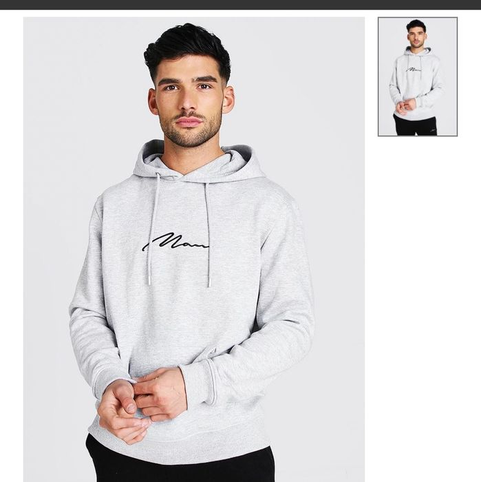 Man Signature over the Head Hoodie