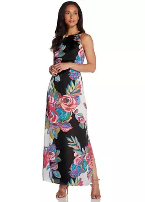 Adrianna Papell Print Maxi Dress (Size 8 & 10)