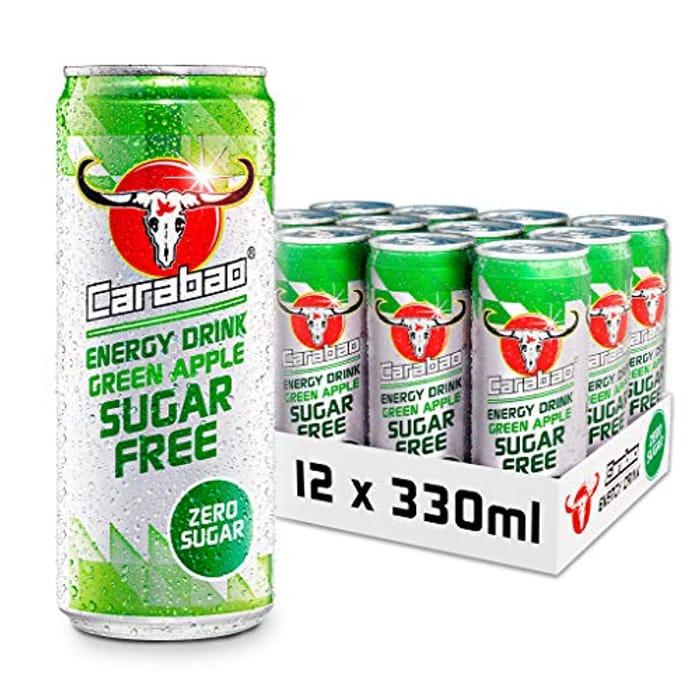 Carabao Energy Drink Green Apple Sugar Free