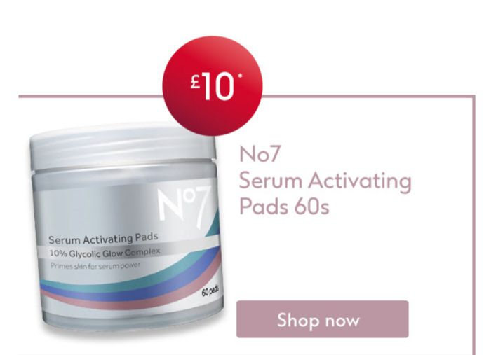 No7 Serum Activating Pads 3 for 2