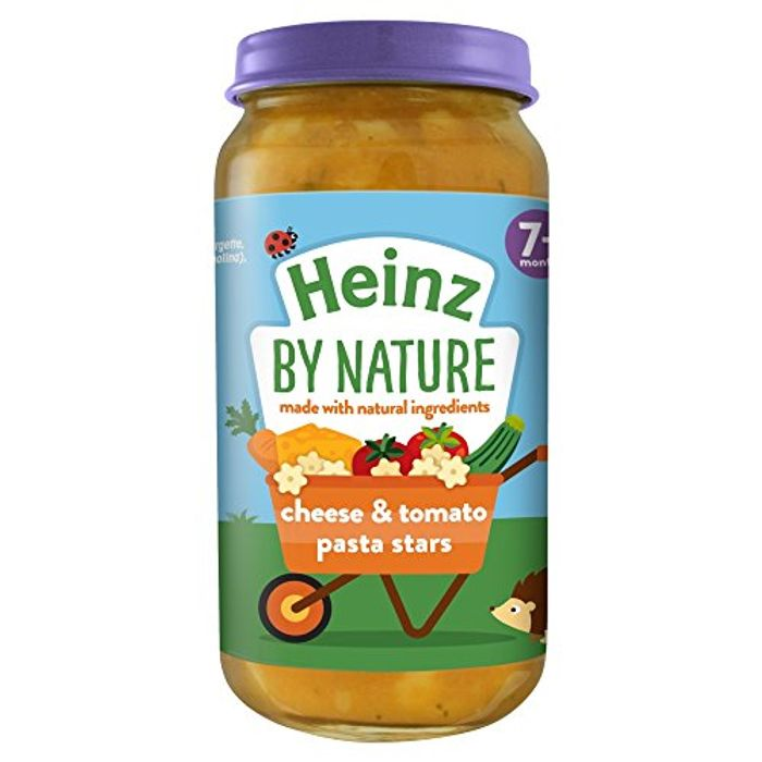Heinz 7+ Months by Nature Cheese and Tomato Pasta Stars, 200g