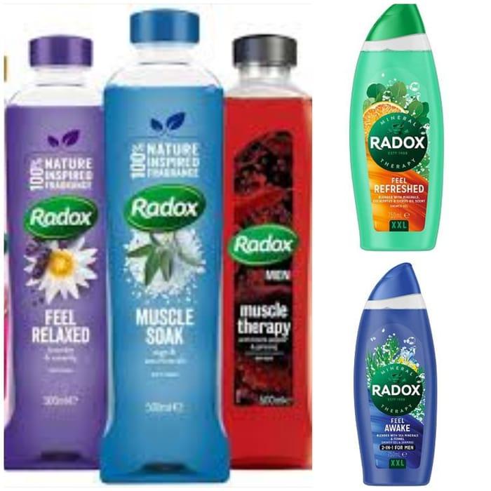 Star Buy! save on Selected Radox Bath Soak - £1.10 & Shower Gel 500ml - £1.40