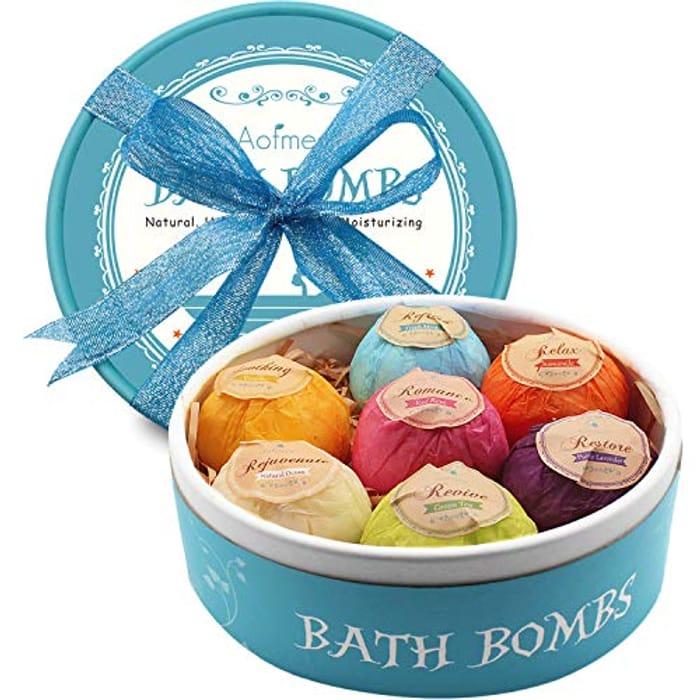 Bath Bombs Gift Set at Amazon
