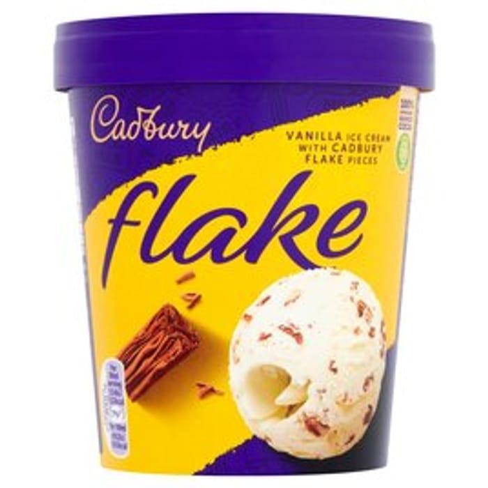 Cadbury Flake Ice Cream Tub