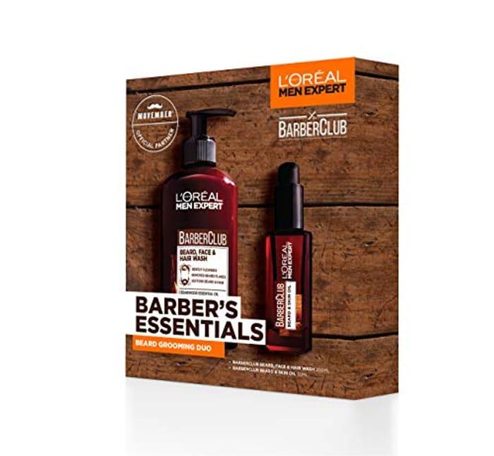 L'Oreal Men Expert Gift Set for Men, Barber's Essentials Beard Grooming Kit