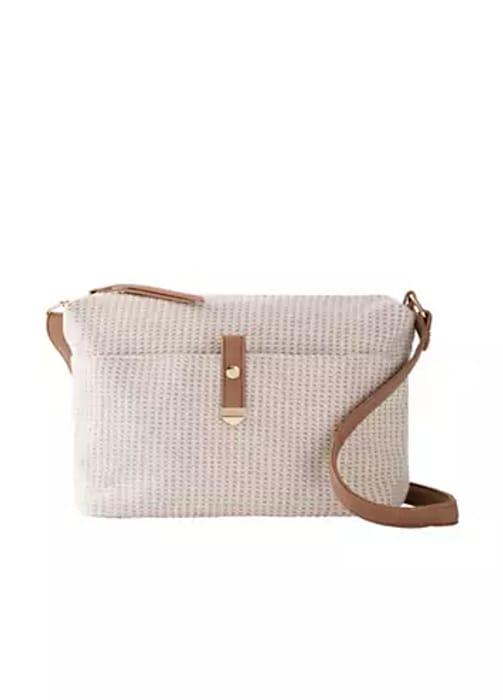Beige Woven Shoulder Bag by Bpc Bonprix Collection