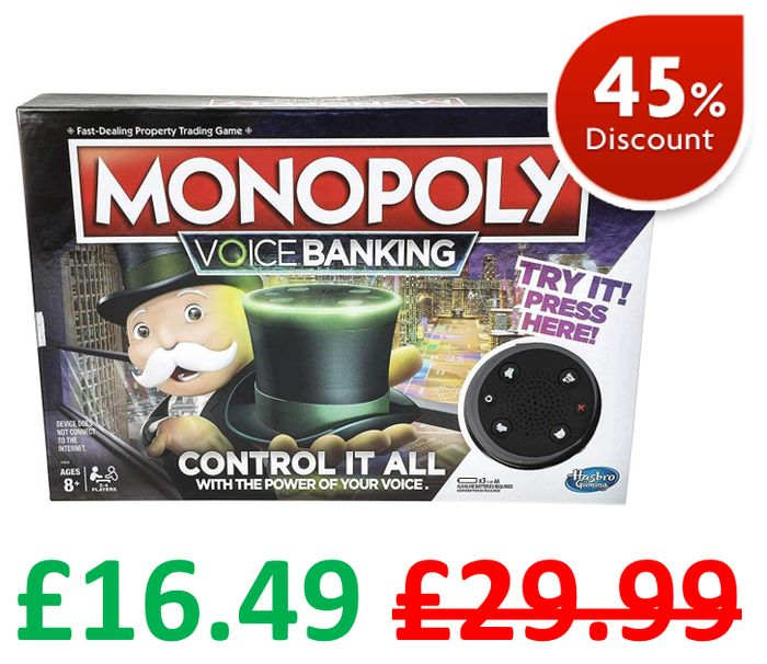 SAVE £13.50 - Monopoly Voice Banking