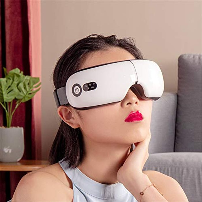 LIGHTNING DEAL - Chinbersky Eye Massager with Heat, White