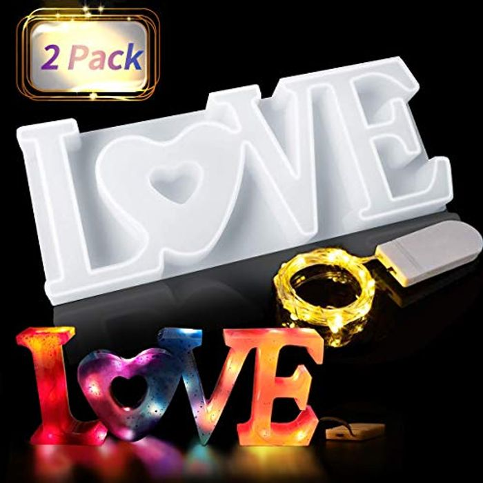 DEAL STACK - Jeteven LOVE Resin Casting 3D Resin Silicone Mould + 8% Coupon