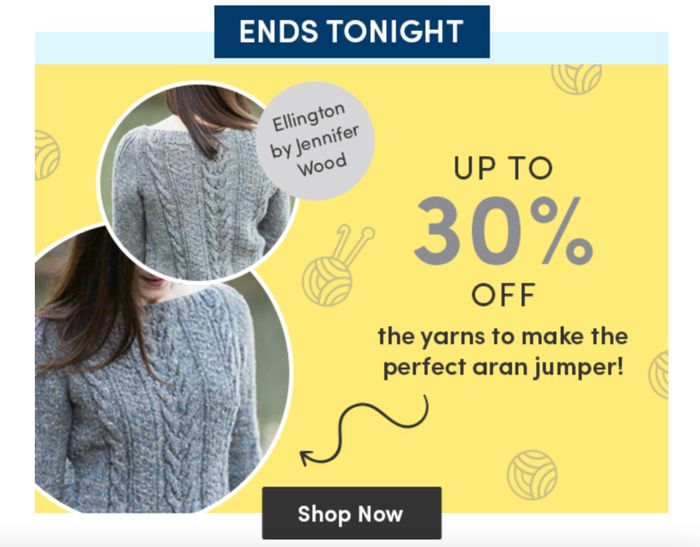 SAVE up to 30% on Wools for Aran Knits