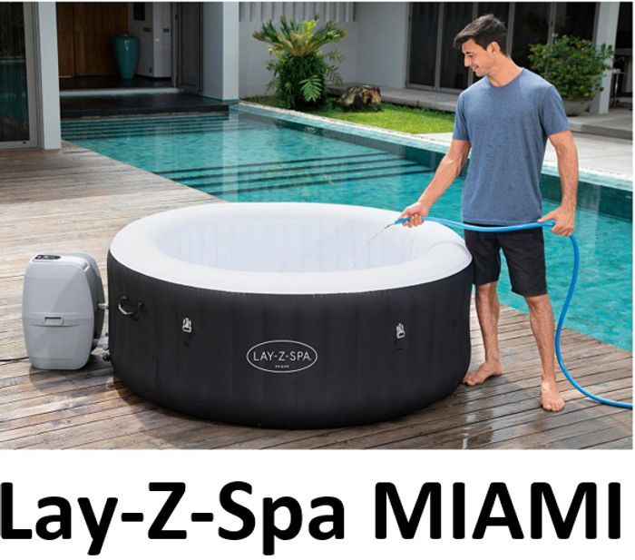 Lay-Z-Spa Miami 4 Person Hot Tub - Order Now for June Delivery!