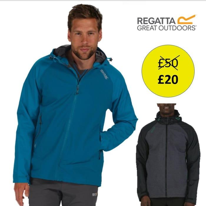 Regatta Mens Alkin Waterproof Breathable Jacket Black or Blue Rmw271 Rrp £50