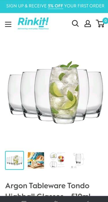 6 Glass Tumblers