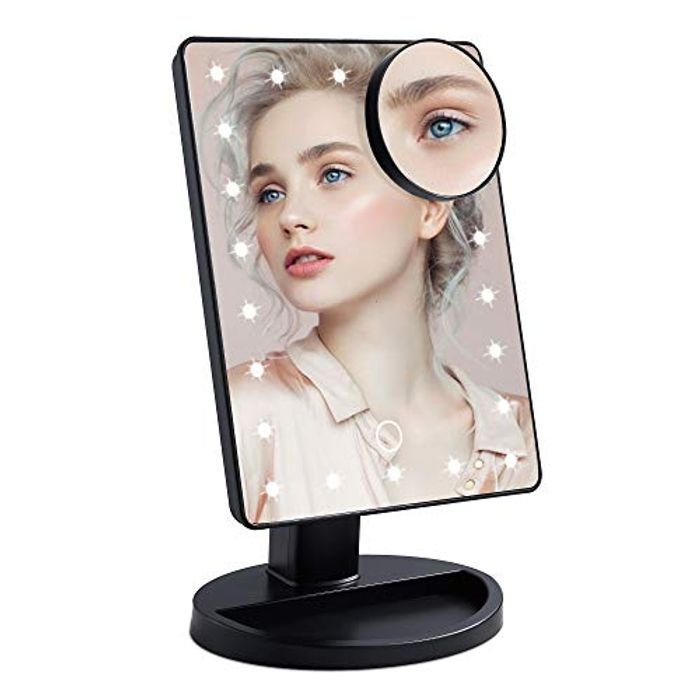 Wopeite Makeup Mirror with Light 22 LED - Only £7.49!