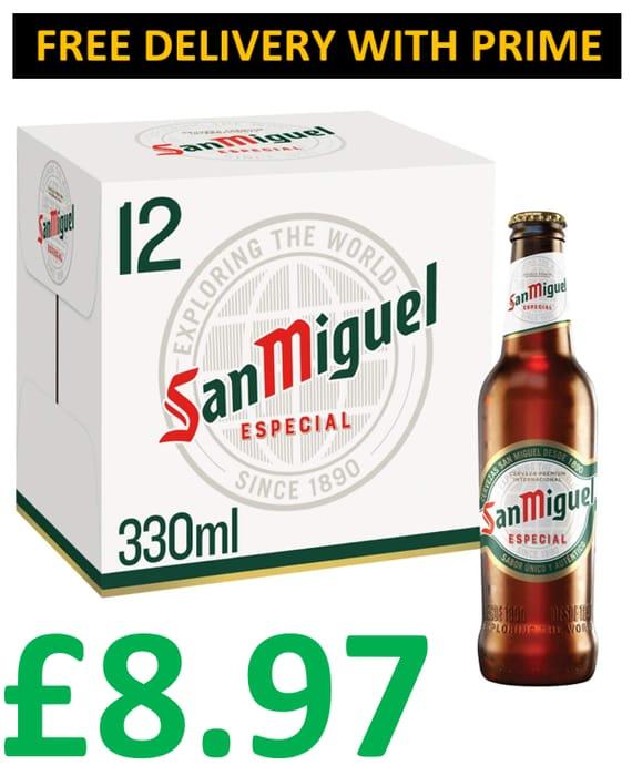 Amazon #1 Best Seller - San Miguel Premium Lager, 12 X 330ml