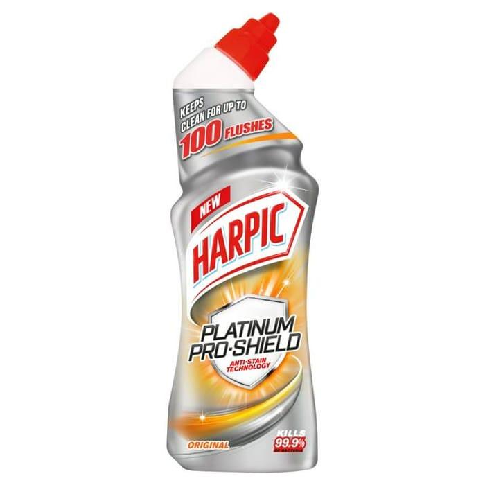 Harpic Platinum Pro Shield Toilet Cleaner, Original Scent 750ml