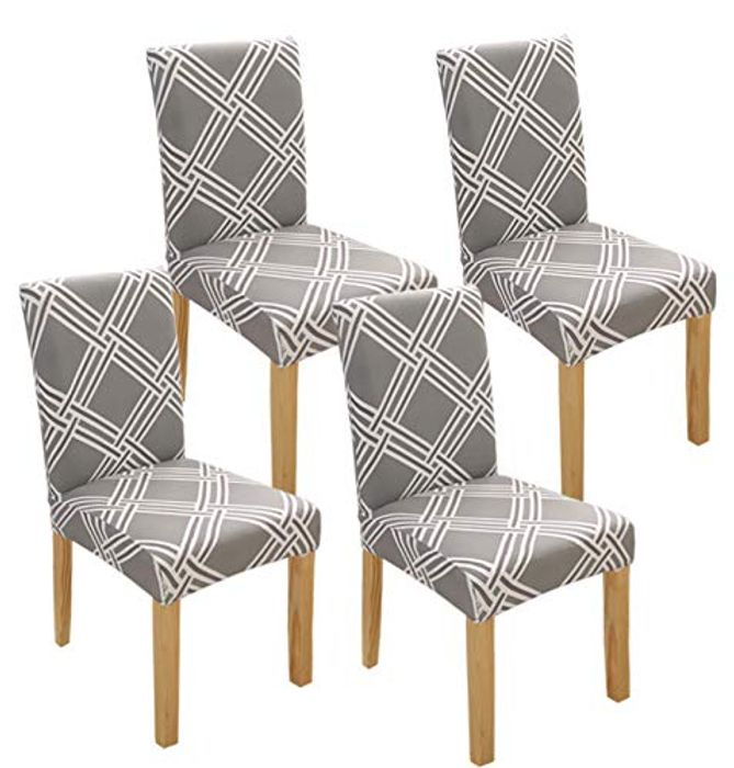 4 X Idefair Stretch Dining Washable Chair Covers - Only £10.79!