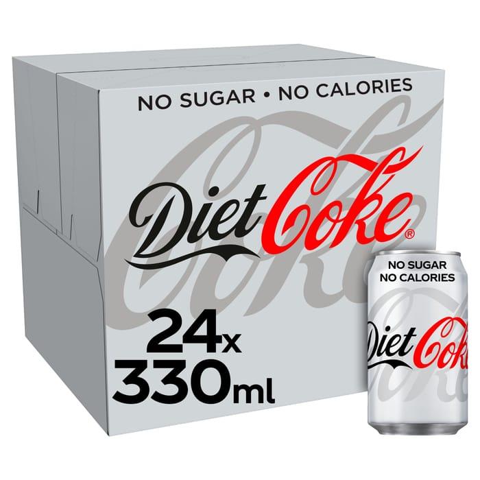 Diet Coke, Coca Cola Coke Zero, Diet Coke Caffeine Free *24 Can Pack