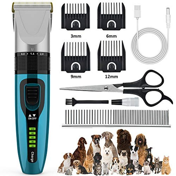 BASEIN Low Noise Pet Grooming Kit - Only £9.99!