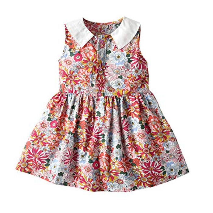 Julhold Girl Floral Romper Dress with £6 Off Coupon