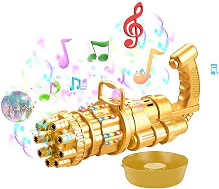 Bubble Gatling Gun, Glowing Music Gatling Bubble Machine 2021