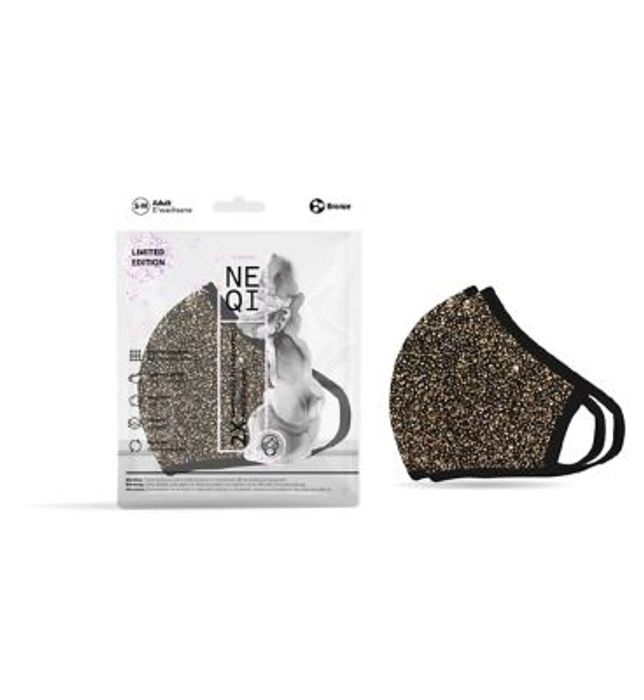 NEQI 3PLY Reusable Face Masks - 2 Pack