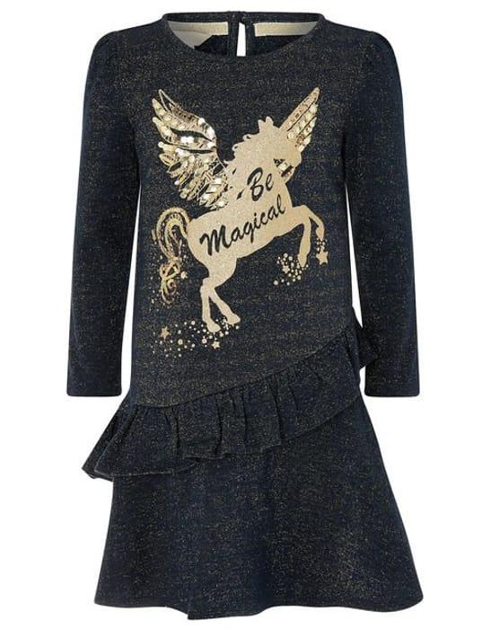 Be Magical Unicorn Sweat Dress Blue