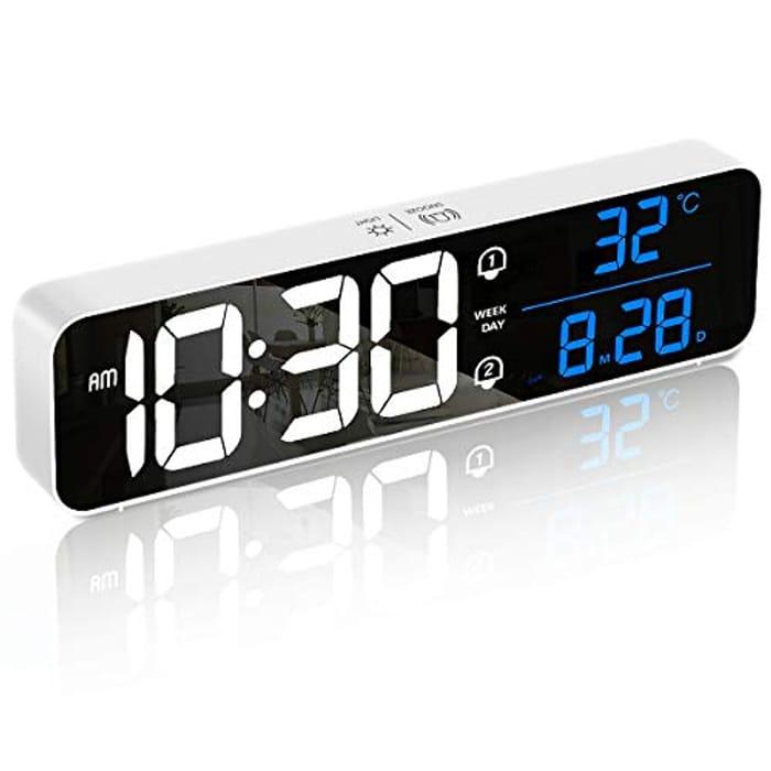 HOMVILLA Large LED Digital Alarm Clocks - Only £7.22!