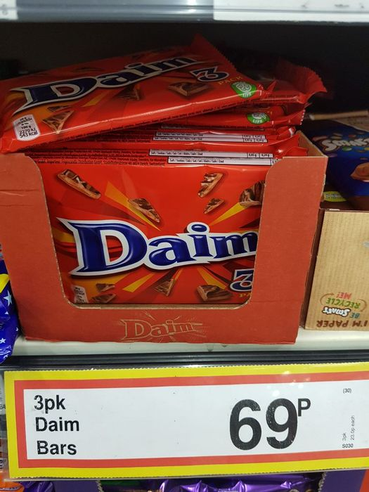 Daim Chocolate Bar 3 Pack  3x28g