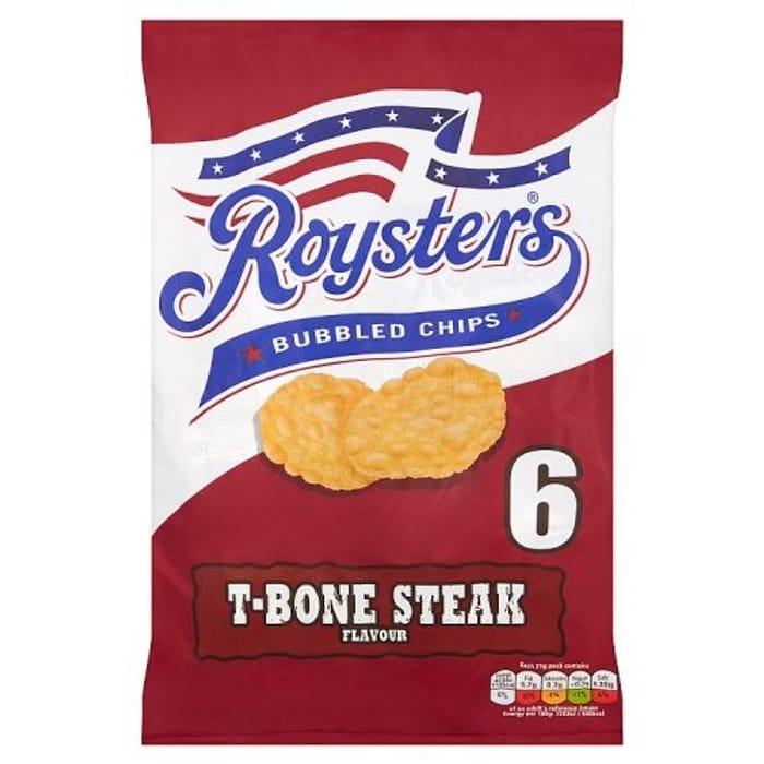 Roysters T-Bone Steak Flavour Bubble Chips 6x25.5g