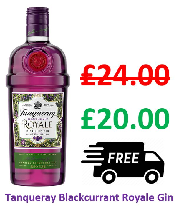 Tanqueray Gin Blackcurrant Royale 70cl - £20 at Amazon + FREE DELIVERY