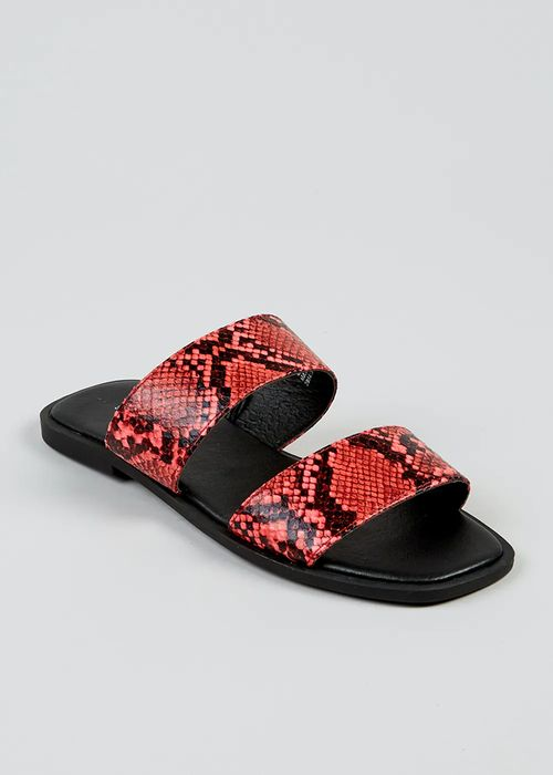 Pink Snake Double Strap Sandals