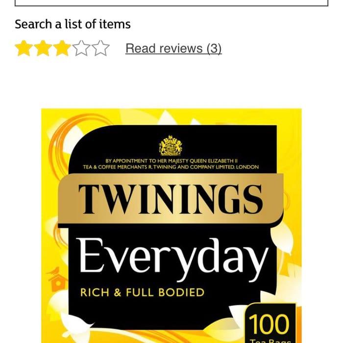 Twinings Everyday Tea, 100 Tea Bags