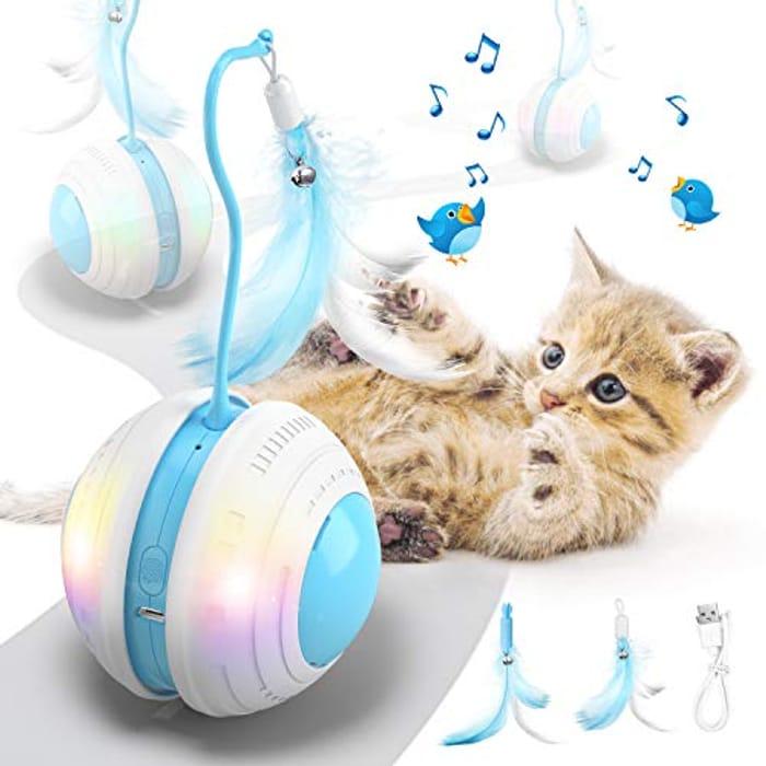 LED Light-up Moving Cat Toy Only £8.80 Delivered
