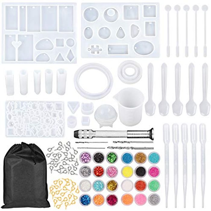 159Pcs Resin Moulds and Tools Kit