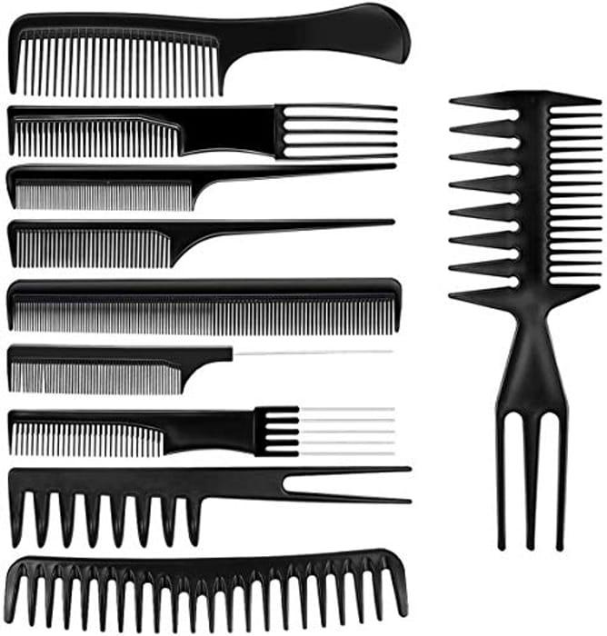 10Pcs Professional Hair Styling Comb Set
