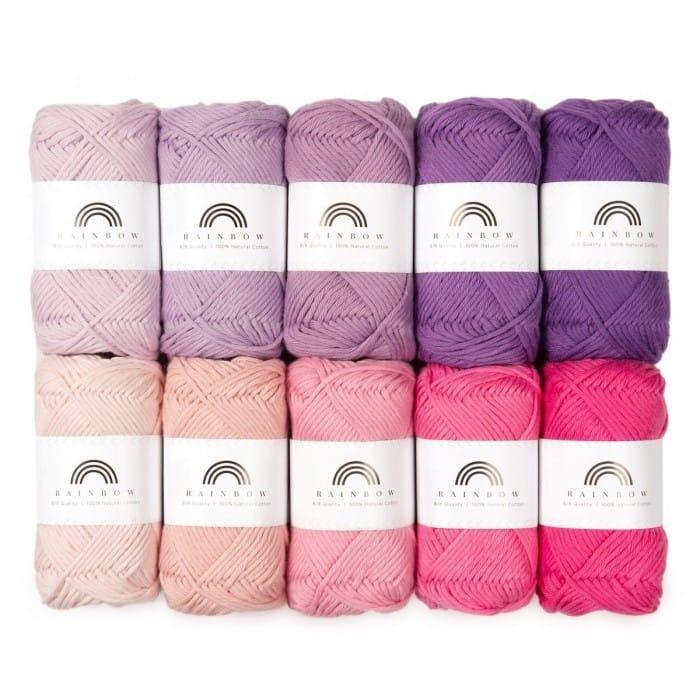 SAVE 37% Hobbii Rainbow Cotton 8/8 Color Pack