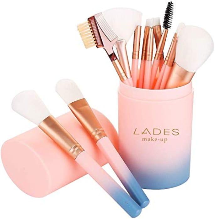 12 Pcs Face Makeup Brushes Makeup Brush Set - Only £5.39!