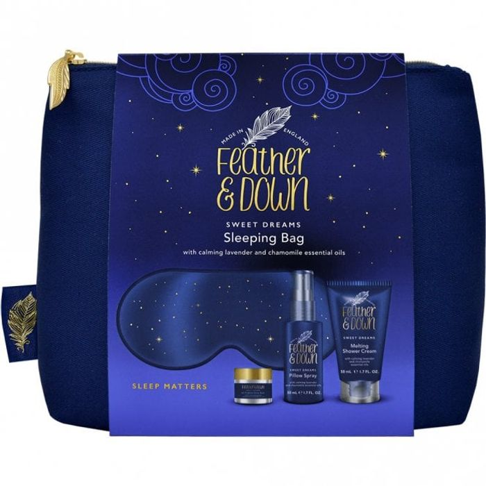 FEATHER & down Sweet Dreams Sleeping Bag Gift Set & free delivery