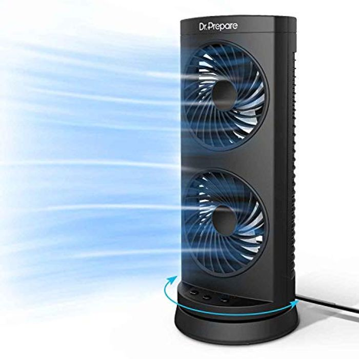 Dr. Prepare Tower Fan Oscillating Fan, Portable Desk Fan