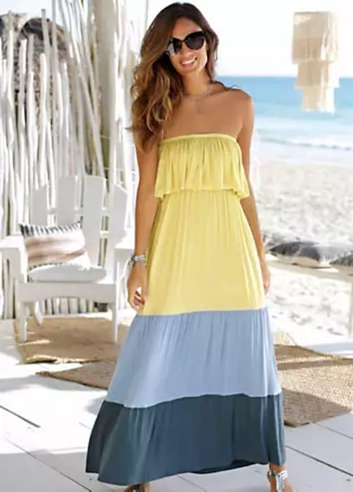 LASCANA Bandeau Dress (Size 8)