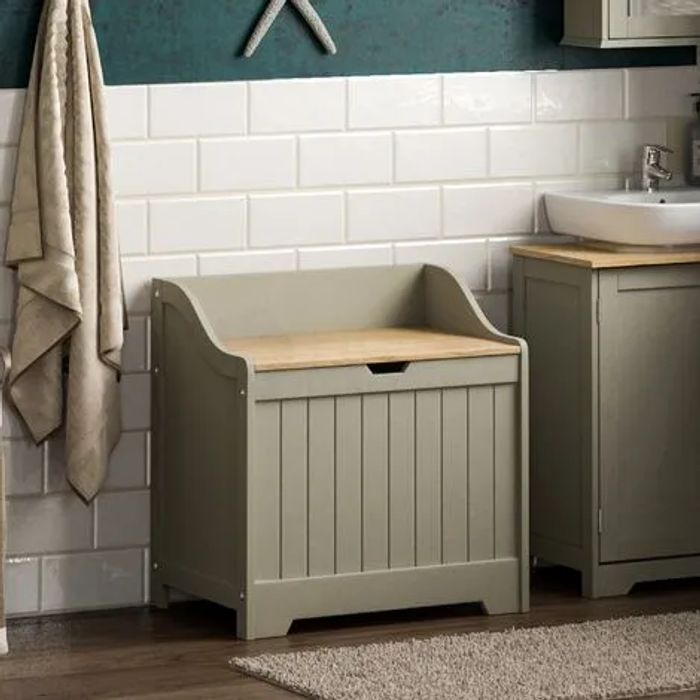 Priano Laundry Chest, Grey
