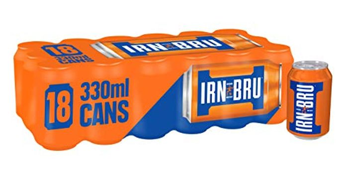 IRN-BRU Fizzy Drink Cans, 330ml, (Pack of 18)