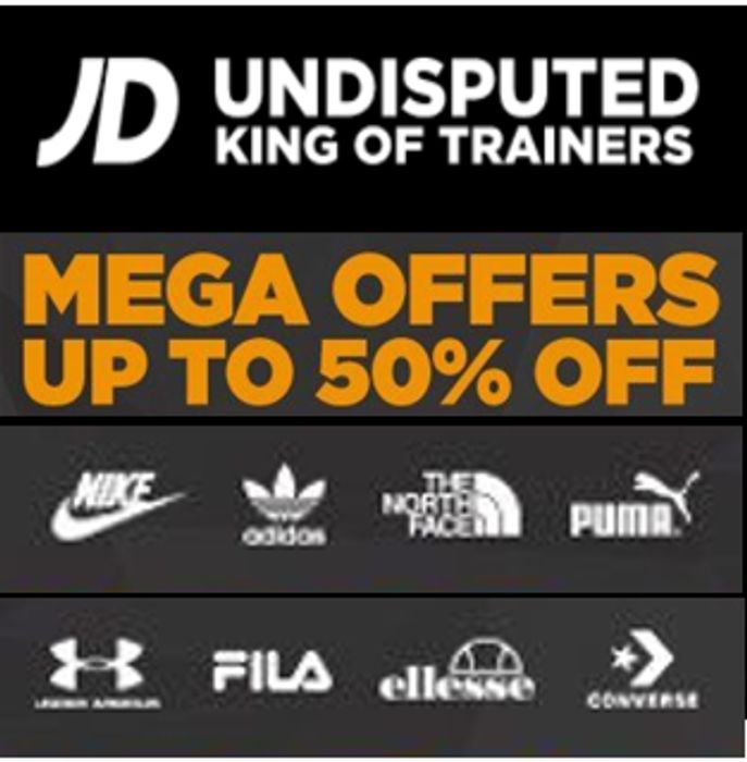 Special Offer! JD Sports - MEGA OFFERS - up to 50% off Nike, Adidas, PUMA Etc.