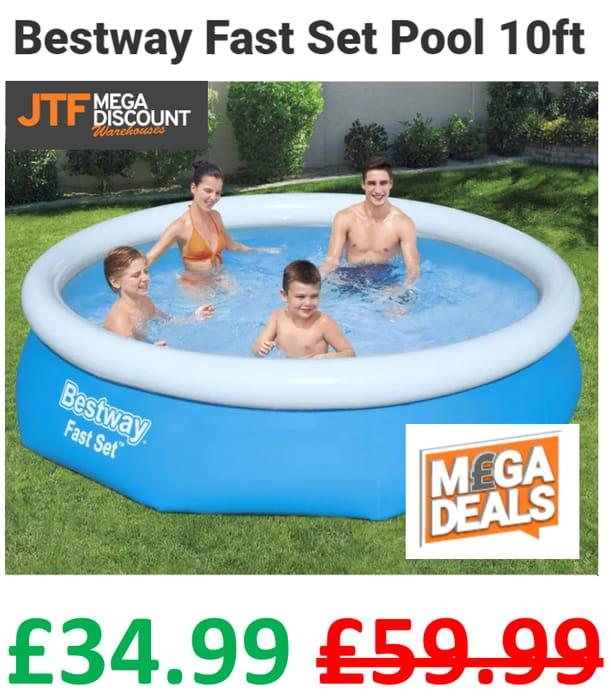 SAVE £25 - Bestway Fast Set Pool 10ft