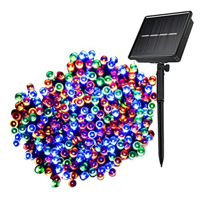 £9 Voucher- Solar Lights Outdoor Garden 106FT 240LED